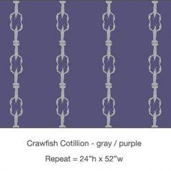 Casart_Crawfish-Cotillion Gray Purple_18x