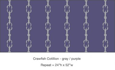 Casart_Crawfish-Cotillion Gray Purple_18x