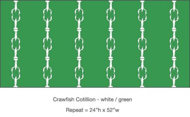 Casart_Casart_Crawfish-Cotillion White Green_20x