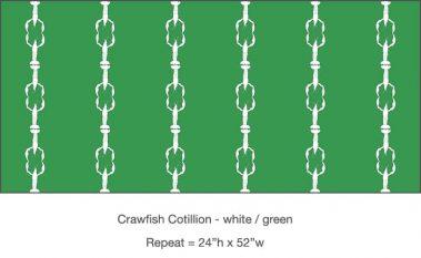 Casart_Casart_Crawfish-Cotillion White Green_20x