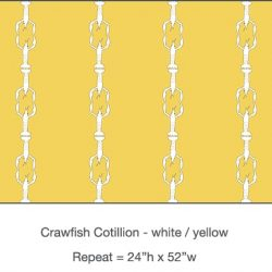 Casart_Crawfish-Cotillion White Yellow_22x