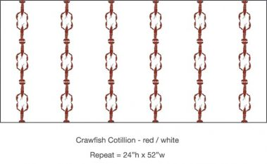 Casart_Crawfish-Cotillion Red White_25x