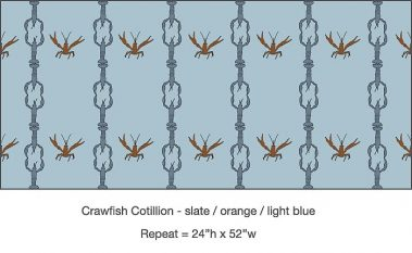 Casart_Crawfish-Cotillion Slate Orange Light Blue 2_3x
