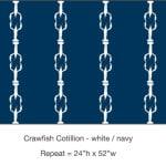 Casart_Crawfish-Cotillion White Navy_6x