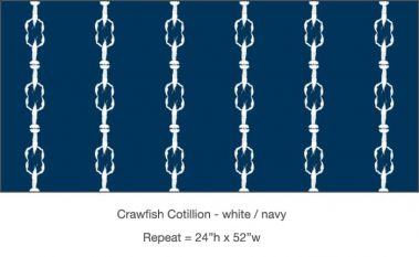 Casart_Crawfish-Cotillion White Navy_6x