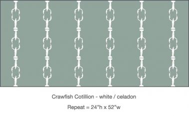 Casart_Crawfish-Cotillion White Celadon_8x