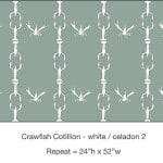 Casart_Crawfish-Cotillion White Celadon 2_9x