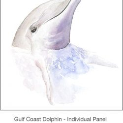 Casart_Gulf Coast Dolphin Panel white_1x