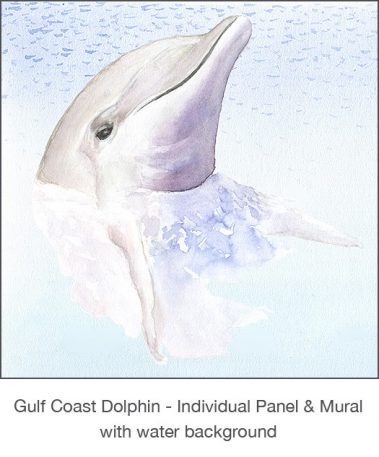 Casart_Gulf Coast Dolphin Panel water_2x