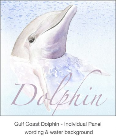 Casart_Gulf Coast Dolphin Panel water & wording_4x