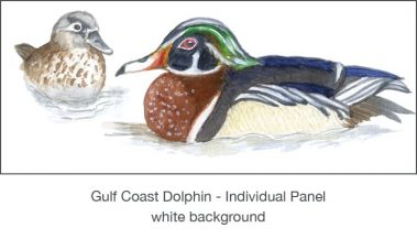 Casart_Gulf Coast Ducks_Panel white_1x