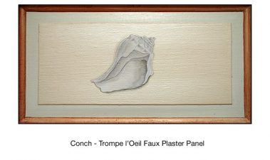Casart_Faux Plaster Conch Faux Panel Detail_5x