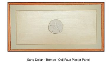 Casart_Faux Plaster Sand Dollar Faux Panel Detail_1x