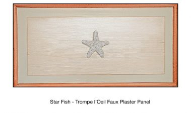 Casart_Faux Plaster Starfish Faux Panel Detail_2x