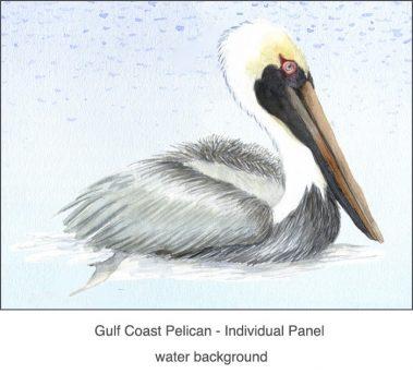 Casart_Gulf Coast Pelican water_2x