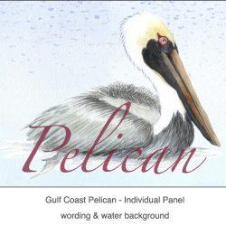 Casart_Gulf Coast Pelican water & wording_4x
