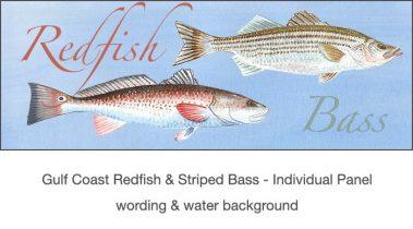 Casart_Gulf Coast Redfish_Bass water & wording_4x