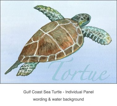 Casart Coverings_Gulf Coast Sea Turtle water & wording_4x