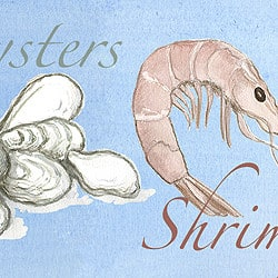 Casart_Element: Oysters & Shrimp no. 8_Gulf Coast Design