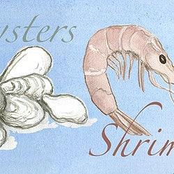 Casart_Element: Oysters & Shrimp no. 8_Gulf Coast Design