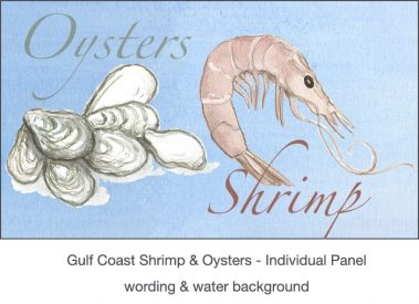 Casart_Gulf Coast Shrimp Oysters water & wording_4x