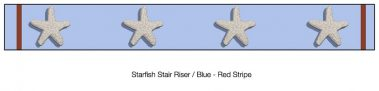 Casart_Starfish_Stair Riser - Border Patriotic Blue Detail_1x