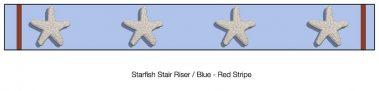 Casart_Starfish_Stair Riser - Border Patriotic Blue Detail_1x