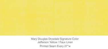 Casart MDD Mary Douglas Drysdale Signature Color Jefferson Yellow Casart Faux Linen 1x