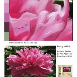 Casart coverings_Ann Alger sample2-Peonies in Pink_temporary wallpaper