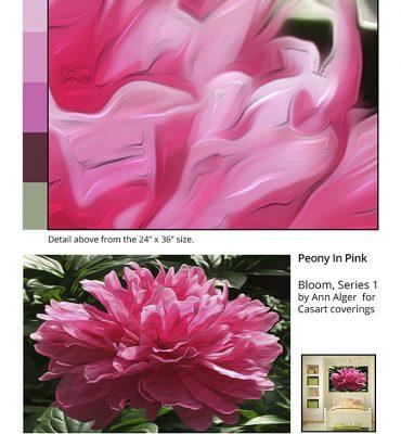 Casart coverings_Ann Alger sample2-Peonies in Pink_temporary wallpaper