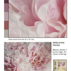 Casart Coverings_Ann Alger sample2-White Pink Peonies_temporary wallpaper
