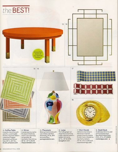 Casart coverings in House Beautiful_March 2014_The Best!