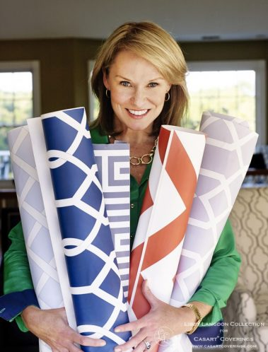 Libby Langdon with Collection for Casart coverings