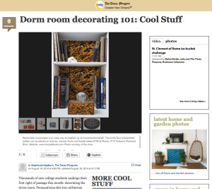 Times Picayune: Dorm Room Decorating 101