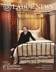 Ladue News Magazine cover Libby Langdon Collection for Casart coverings_press