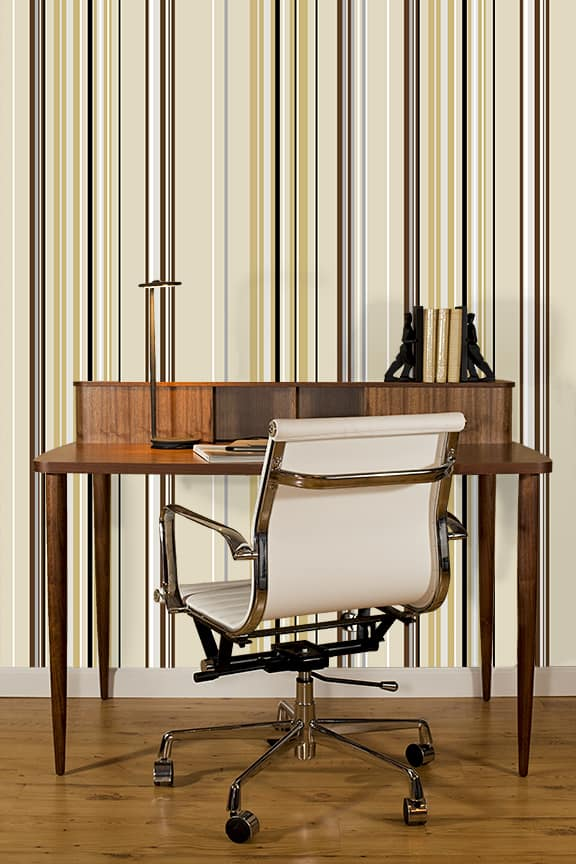 Casart Coverings neutral Combined Stripe Pattern temporary wallpaper