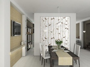 Casart Birds and Birch Neutral Dining Room