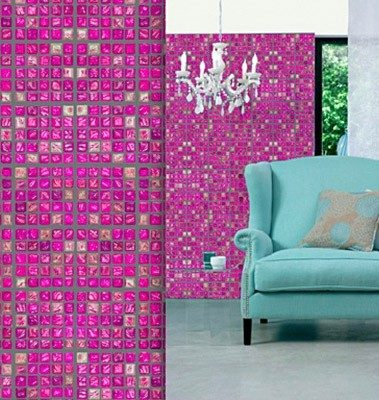Casart Coverings Faux Glass Mosaic Tile temporary wallpaper in many colors