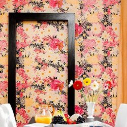 Casart coverings Flower Power Botanical temporary wallaper