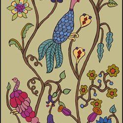 Casart Coverings Kristin Nicholas Garden Birds Morning Mist Mural_self-adhesive wallpaper