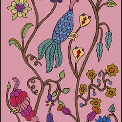 Casart Coverings Kristin Nicholas Garden Birds Summer Rose Mural_self-adhesive wallpaper