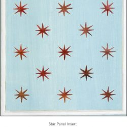 Casart coverings Star Panel Insert Blue Red Muted white