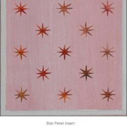 Casart coverings Star Panel Insert Aged Maroon Red Gray