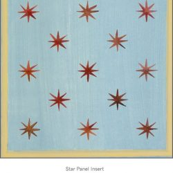 Casart coverings Star Panel Insert Aged Blue Red Muted Yellow