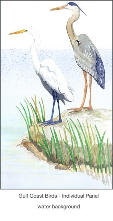 Casart coverings Gulf Coast Egret Birds_2x