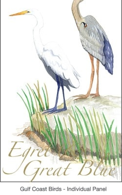 Casart coverings Gulf Coast Egret Birds 3x