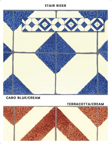 Casart Coverings Faux Tile Sample removable wallpaper