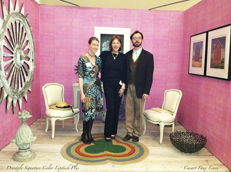Casart coverings_Team - Drysdale Pink Faux Linen - Antiques in Alexandria