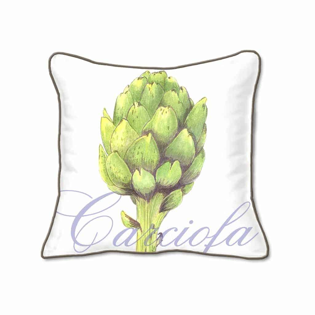 Casart Decor_Artichaut Botanical Accents pillow slipcover