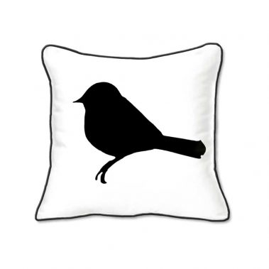 Casart Decor_Black Birds Birch Animalia Accents 1-bw-B_SQ-w_pillow slipcover